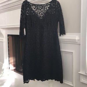 KAREN KANE Black A Line Fitted Dress Size L